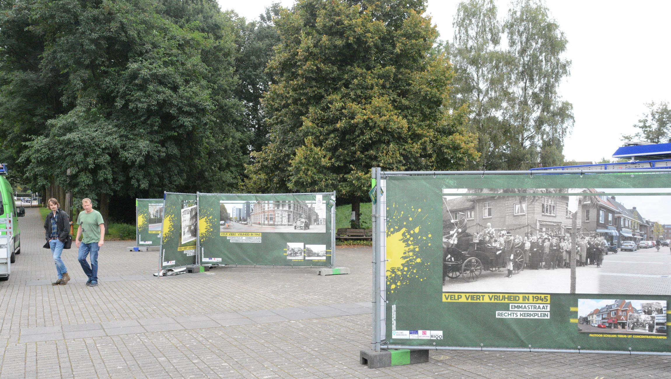 Buitenexpositie 'Velp Viert Vrijheid' op Velps Landgoed
