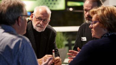 Burgers met elkaar in gesprek tijdens de eerste Burgertop Limburg 2018