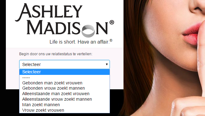 ashley madison homepage