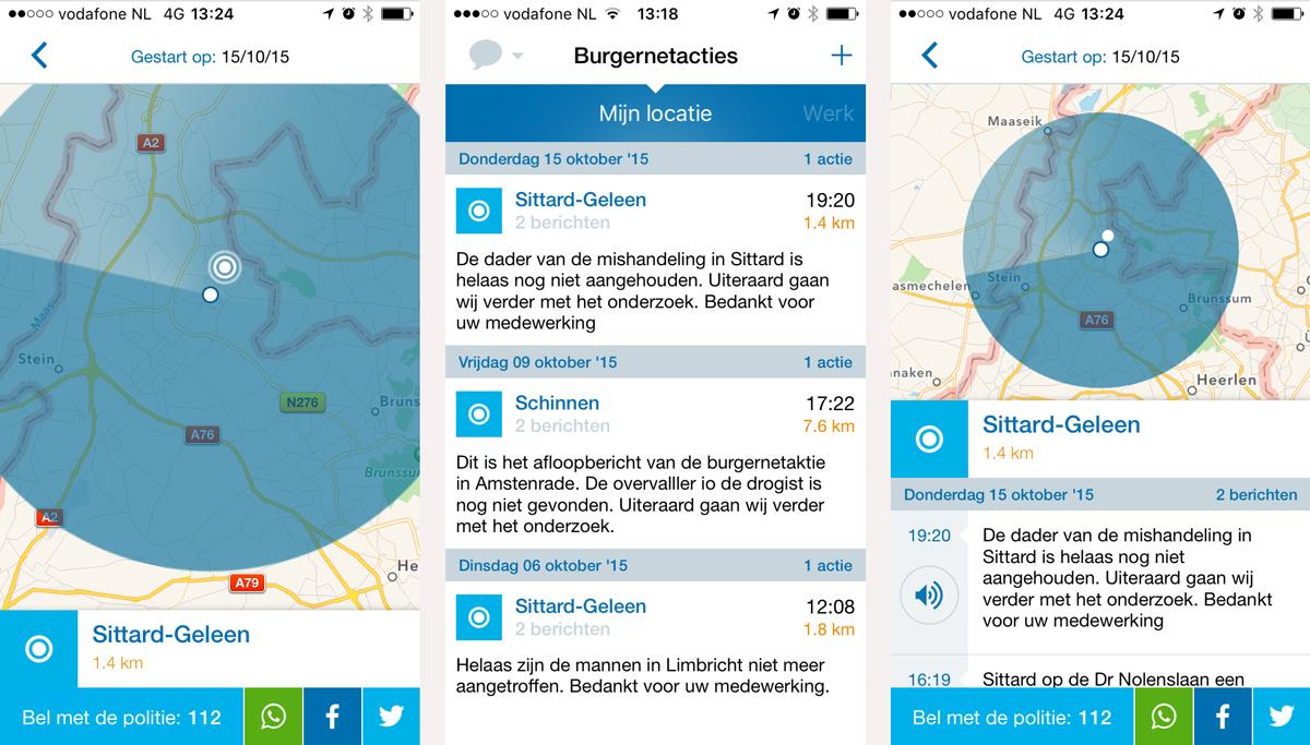 app daten Sittard-Geleen
