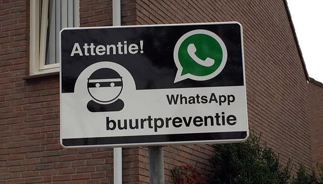 Afbeeldingsresultaat voor buurtpreventie via Whatsapp