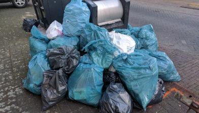 Veel voorkomend probleem: 'bijplaatsing' van afval.