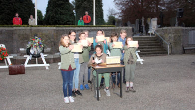 Kindermonument door basisschool De Duizendpoot uit Geleen (2017)