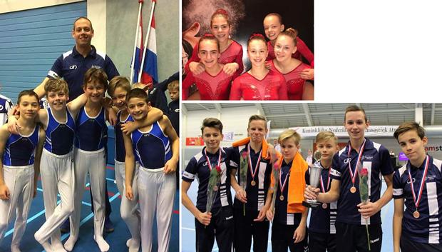 Heren Swentibold Nederlands kampioen turnen voor clubteams