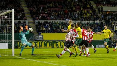 In mei nog tegen Jong PSV,, op 18 augustus tegen het grote PSV