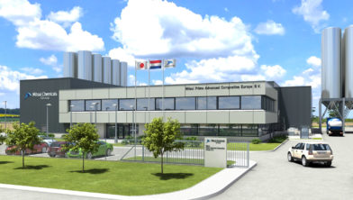 Impressie nieuwbouw Mitsui Chemicals Group op Chemelot