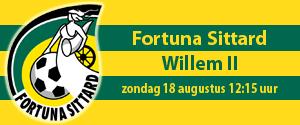 Competitie Eredivisie 2019-2020: Fortuna Sittard - Willem II
