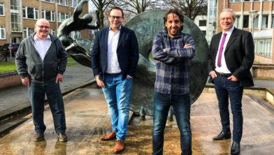 V.l.n.r.: Han van Mourik, Bas Hoedemakers, Sergio Klein en Ton Raven