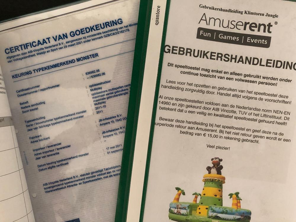 keuringsbewijs en handleiding