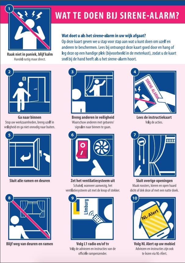 wat te doen bij sirene-alarm