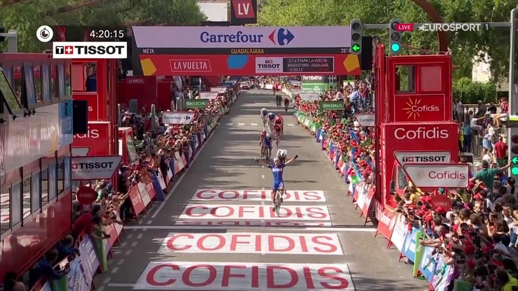 Philippe Gilbert wint 17e etappe Vuelta
