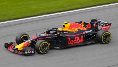 Max Verstappen op circuit in Oostenrijk in 2018