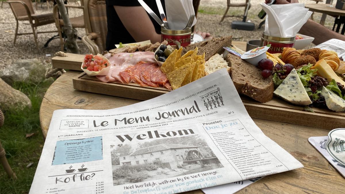 peuzelplank en Le Menu Journal bij de Vief Heringe