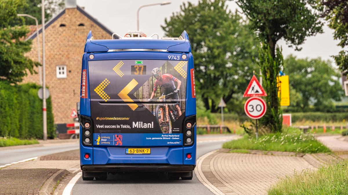 Milan Vader op bus Arriva