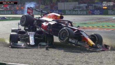 <em>Verstappen en Hamilton crashen in Monza</em>