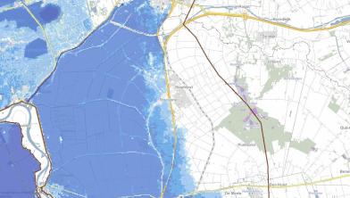 Overstromingsdiepte gemeente Staphorst