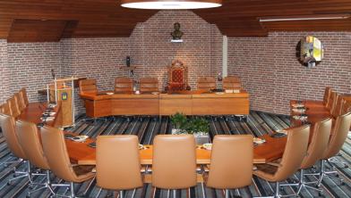 De oude raadszaal voor de proefopstelling in 2017