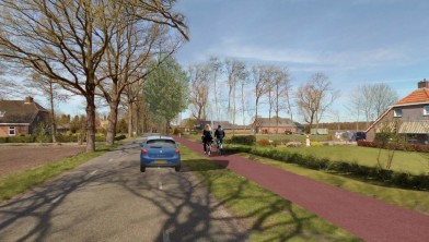 Visualisatie toekomstig fietspad Kanlaan