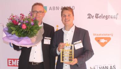 Johan Bert Boonstra en Jarno Harink nemen award in ontvangst
