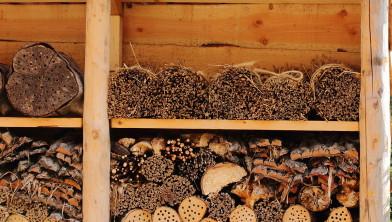 Insectenhotel van natuurlijke materialen