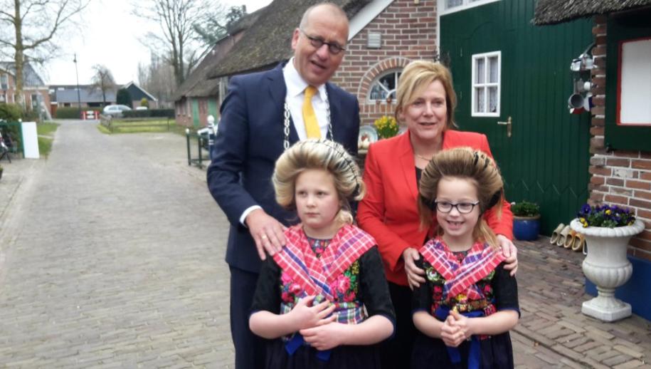 Ontvangst Cdk Ank Bijleveld-Schouten bij opening hernieuwd Museum