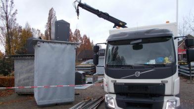 Plaatsing ondergrondse containers op het marktplein van Staphorst
