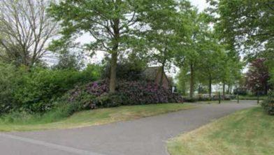 De begraafplaats voor de herinrichting