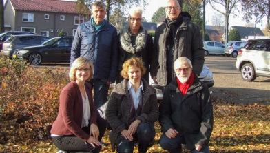 Vrijwilligers SWS en leden van de werkgroep IJhorst