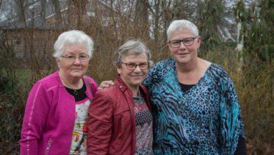 v.l.n.r.: Grietje Rumpf, Henny Padberg en Geertrui Balkenende