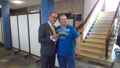 Ook deze man uit Noord-Brabant kwam in Staphorst zijn stem uitbrengen