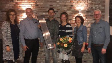 Vlnr: Rensje & Jouk Boer, Klaas & Wobby Brand, Jenny & Jacob Kin