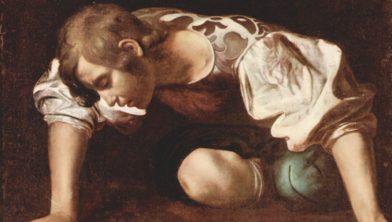 Narcissus, hij werd verliefd op zichzelf.