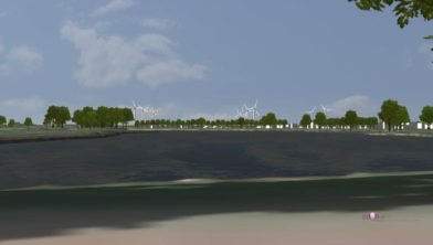 Impressie windpark gezien vanuit Dedemsvaart