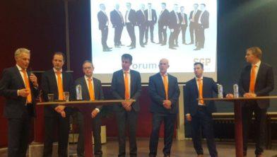 Jan Slager uiterst rechts, Herman Slappendel 3e van rechts