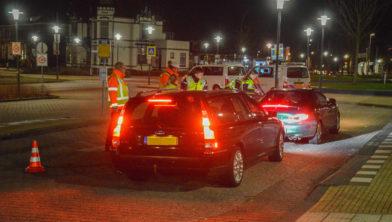 Diezelfde avond ook in Steenwijk eenalgemene verkeerscontrole.