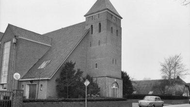 Het kerkgebouw zoals in de tijd van ds. K. Veldman