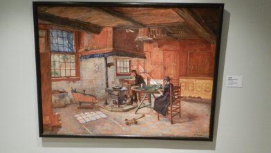 Schilderij van Jo Koster: 'Staphorster interieur' gemaakt in 1914