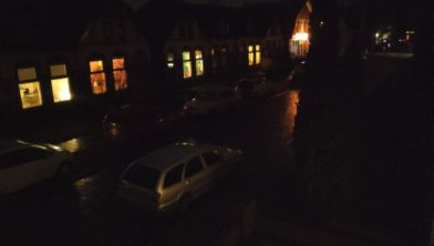 Gasthuislaan in het donker