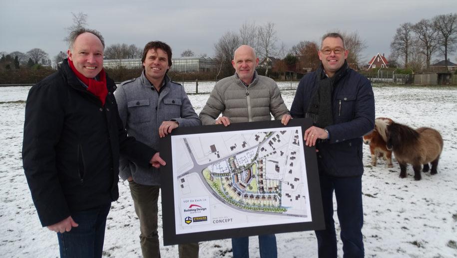 Ewald Steggink, Dinant Oude Lenferink, Hans Croonen en Jeroen Riekert