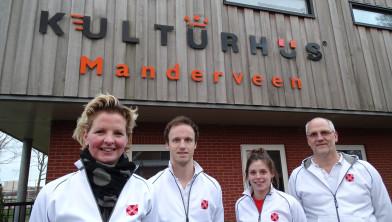 Joyce de Witte-Paus, Thijs Nieuwmeijer, Maddie Stopel en Ben Boerrigter.