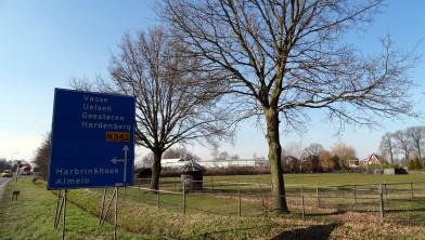 Uitzicht op het voormalige Tuincentrum Tubbergen, vanaf de Tubbergeresweg