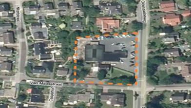 Bovenaanzicht van de projectlocatie aan de Oldenzaalseweg te Tubbergen