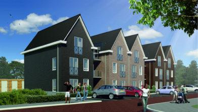 Impressie van de nieuwbouw aan de Oranjestraat in Tubbergen