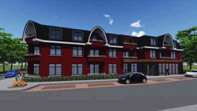 Het nieuwbouwplan van Café Steggink en de aanliggende panden