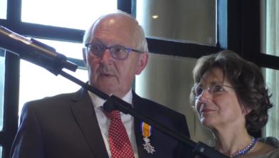 Jan en Mieke Kamst bij de benoeming