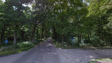 Uelserweg kruising Drieschichtsweg in Mander