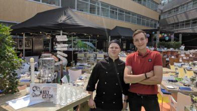 Jorn Bels en Pieter Kottink voor hun popup-restaurant