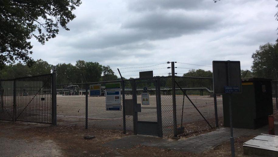NAM-boorlocatie TUB7 in Hezingen