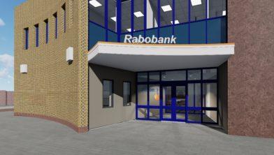 Vooraanzicht van de Rabobank in Tubbergen
