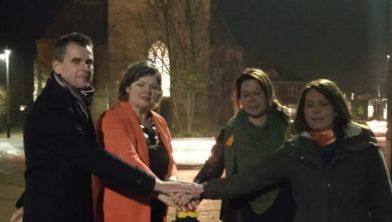 Gerhard ter Maat, Wilmien Haverkamp, Chantal Veltmann en Marleen Zandstra